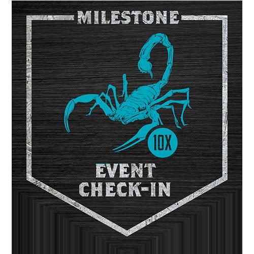 Camp Camacho 10x Event Check-in milestone